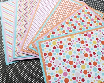 Notecard Set: 6 Different Blank Cards with Matching Embellished Envelopes - Happy Day Too