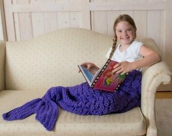 Mermaid Blanket, Adult and Child Mermaid Tail Throw Blanket