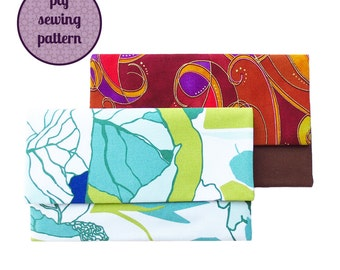 sewing pattern - mini envelope clutch (PDF for immediate download)