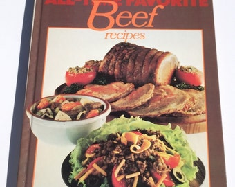 Vintage Cookbook Better Homes and Gardens All-Time Favorite Beef Recipes 1977