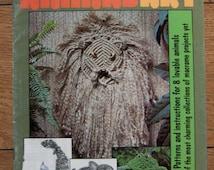 Vintage 70s macrame patterns ANIMAL ART vol 1