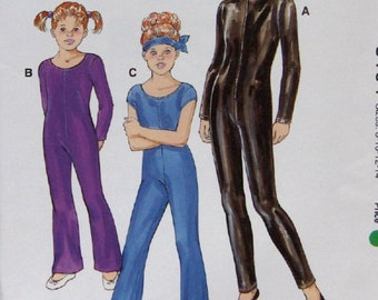 2002 kwik sew pattern 3104 girls unitards without side seams Dance Skate Gymnastics sz 8-10-12-14 uncut