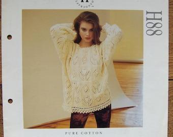 Aran knitting pattern women top cotton chenille