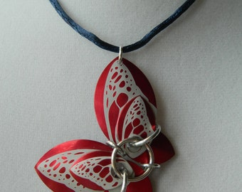 Butterfly Pendants with Red