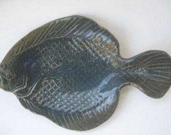 Vintage Fish Pottery Ceramic Dish