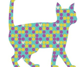 Walking cat applique template | PDF applique pattern | applique template