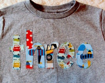 Transportation Birthday Shirt - Boys Birthday Shirt -One Year Old Birthday Shirt, Two Year Old shirt