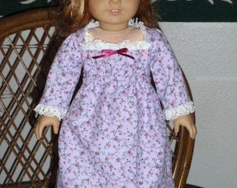 1812 Regency Era Bib Front Dress for American Girl Caroline 18 inch dolls