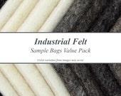 Industrial Felt Sample Bags Value Pack
