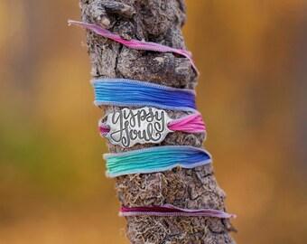 Gypsy Jewelry, Silk Wrap Bracelet, Gypsy Soul Bracelet, Boho, Gypsy Chic Jewelry, Gypsy Style, Jewelry for Gypsies