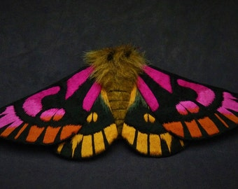Fabric sculpture -   Hemileuca eglanterina Moth fiber art