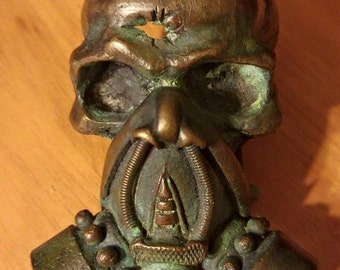 Bullet Hole Gas Mask - bronze belt buckle