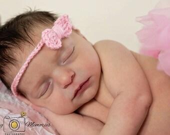 Baby Bow Headband, Photography Prop, Set of 3 Headbands, Newborn Headband, Baby Girl Bow