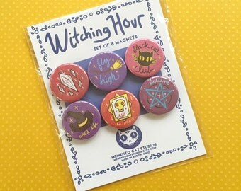 witching hour magnets - set of 6