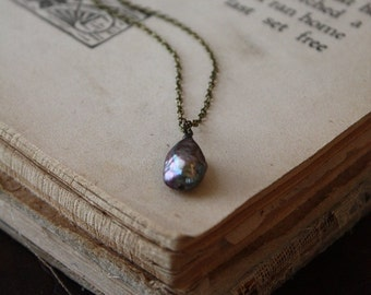 Bronze Freshwater Pearl Necklace - The Dragon's Egg