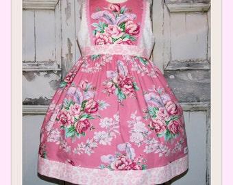 Princess Charlotte Royal Roses Party Dress 2 3 4 5 6 7 8 10 Custom Boutique Handmade Birthday Shabby Chic