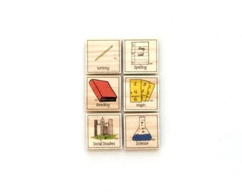 Elementary School - Magnet Set of 6 - Homework Magnets