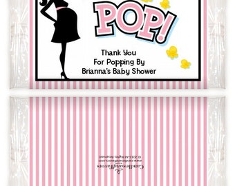 Ready To Pop Pink - Printable Popcorn Wrappers