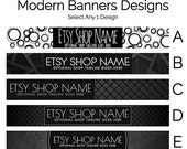 Etsy Banners - Etsy Store Graphics - Etsy Shop Banner Designs Selection - Modern Etsy Banners - Modern Shop Banners