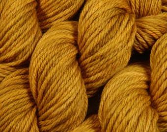 Hand Dyed Bulky Yarn - Bulky Weight Superwash Merino Wool Yarn - Honey Mustard - Knitting Yarn, Wool Yarn, Gold Yarn, Yellow Yarn Craft Gift