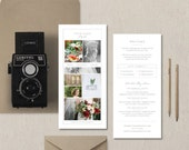 Rack Card Template for Photographers - Wedding Photographer Brochure Design - Pricing Guide - Photographer Marketing Template - m0243
