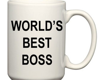 "The ""World's Best Boss"" Coffee Mug, as used by Michael Scott on The Office"