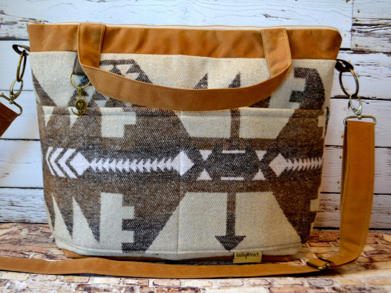 diaper bags made in the usa darby mack wool blanket print. Black Bedroom Furniture Sets. Home Design Ideas