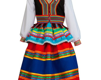 POLISH dress national Poland costume Polish folk dress ethnic outfit traditional dresses slavic attire folk dance costume country costumes