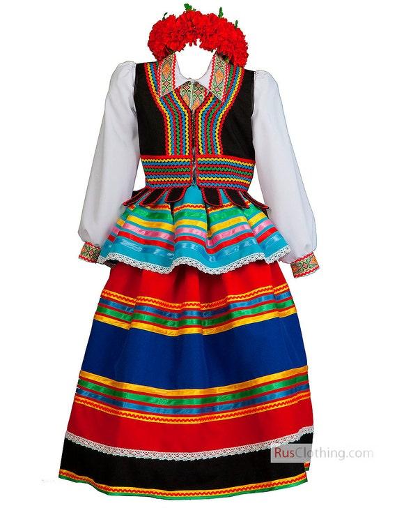POLISH dress national Poland costume Polish folk dress ethnic