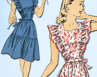 1940s Vintage Du Barry Sewing Pattern 5630 Uncut WWII Misses Sun Dress Size 30B