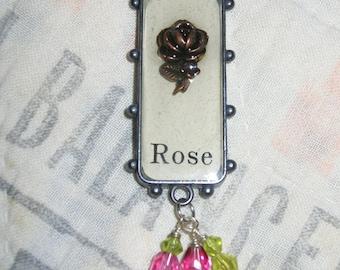 Rose Resin Pendant