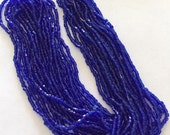 Vintage Glass Cut Beads - Cobalt Blue