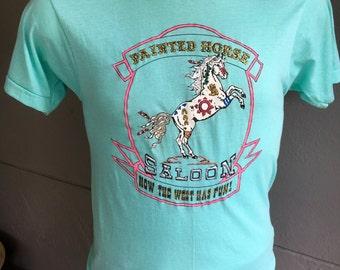 Painted Horse Saloon 1980s vintage tee shirt - mint size medium
