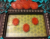 10 Red Filigree Cabochon Settings, Holds a 13x18mm Dome, Lead and Nickel Free Bezel