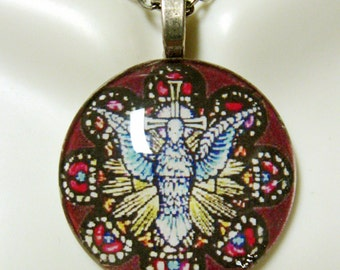 Holy Spirit pendant with chain - GP03-004