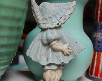 Door Stop Cast Iron Sunbonnet Baby Girl Hubley 1920 Antique VINTAGE by Plantdreaming
