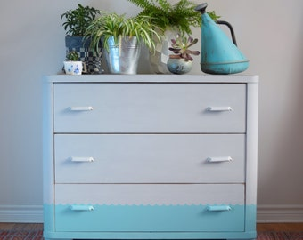 Two-tone dresser/changing table