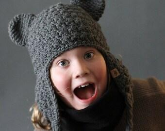 Crochet PATTERN Buddy Bear Crochet Hat Pattern