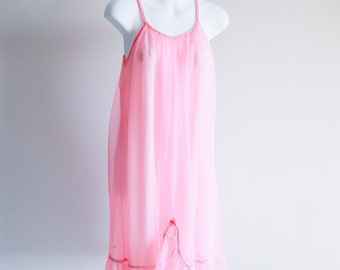 Sweet Pink & Sparkly Shortie Nightie by French Maid -Sz S