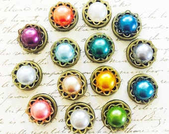 Push Pins - Deluxe Pearl Set - Decorative Push Pins - Office Supplies - Message and Bulletin Boards -  Office Accessories - Organization