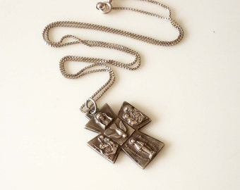 Vintage Sterling Silver Cross with Chain