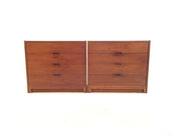 Pair of Vintage Dressers In Wood