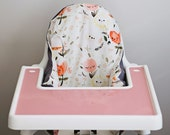 IKEA Antilop Highchair Cover // Happy Flowers // High Chair Cover for the PYTTIG Cushion // Pillow Slipcover