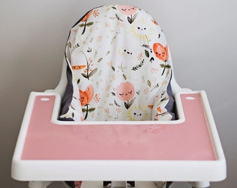 PREORDER: IKEA Antilop Highchair Cover // Happy Flowers // High Chair Cover for the PYTTIG Cushion // Pillow Slipcover