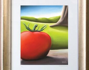 The Red Tomato Framed Print