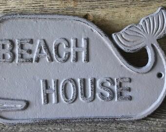 Cast Iron Whale Sign,Beach Sign,Beach House