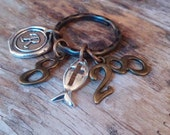 CHRISTIAN KEYRING, Scripture keyring, Romans 8:28, All things work together for the good of those who love God