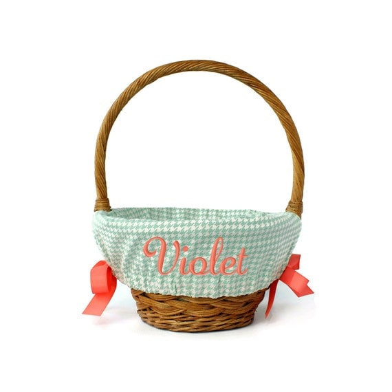 Easter Basket Liner Personalized With Name By Ourlittlemesses