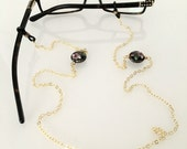 Glasses Chain    Pink Rose