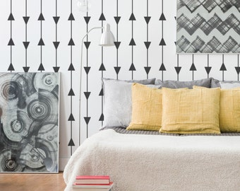Triangle Wall Decal, Triangle Pattern, Triangle Decals, Modern Wall Decor, Apartment Wall Decor, Dorm Decor, Nursery Wall Decals